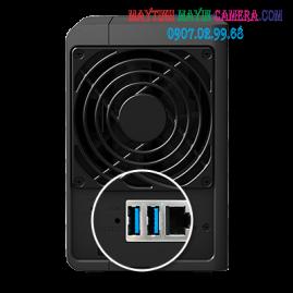 NAS Synology DS216 được tích hợp cổng USB 3.0