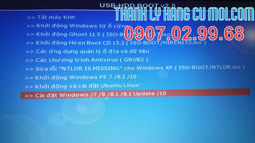 cai windows 10, 8.1, 7 tren cung usb